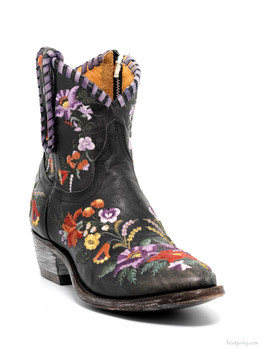 L1343-3-SS OLD GRINGO JASMINE FLORAL EMBROIDERED ANKLE BOOTS