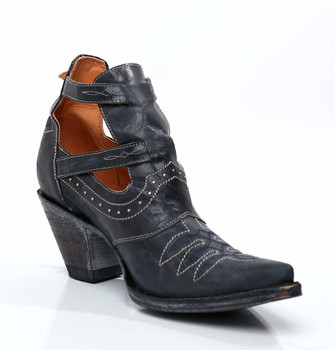 "BL1892-5 OLD GRINGO ""JOY"" DARK NAVY BLUE JEANS ANKLE SHOE BOOTS CUSTOM ORDER"