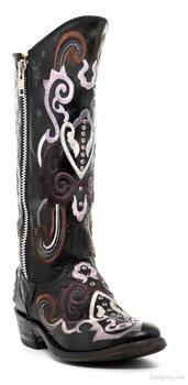 "L 706-3-RR MEXICANA AZAZ 13"" COWGIRL BOOTS BY OLD GRINGO"