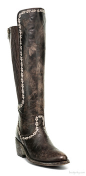 "L1298-1-SS OLD GRINGO PALASADA BROWN 17"" CHOCOLATE EQUESTRIAN BOOTS"