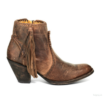 BL1116-14-SS OLD GRINGO ADELA RUST LEATHER ANKLE BOOTS