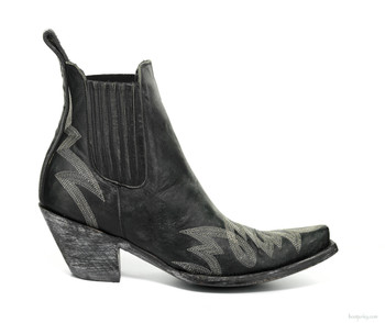 "BL1311-2-SS OLD GRINGO GAUCHO 8"" BLACK / GREY ANKLE BOOTS"