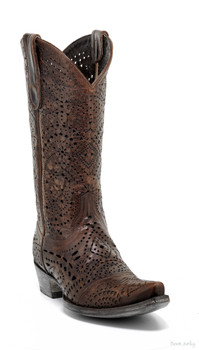 L2203-4 OLD GRINGO STRETCHER BRASS CUTOUT COWGIRL BOOT