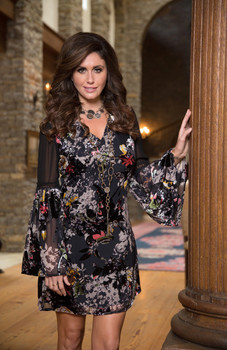32. BRONTE COLLECTION VALARO MULTI PRINT BURNOUT VELVET DRESS