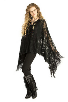 Double D Ranch Montoya Poncho (Black) for Fall 2017