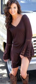 16. Union Of Angels Chocolate Rafia Cowgirl Dress Gorgeous & Sexy