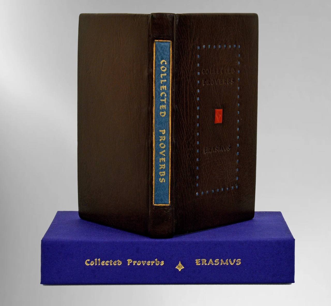 Collected Proverbs by Erasmus, Unique Fine Binding by Constance Wozny