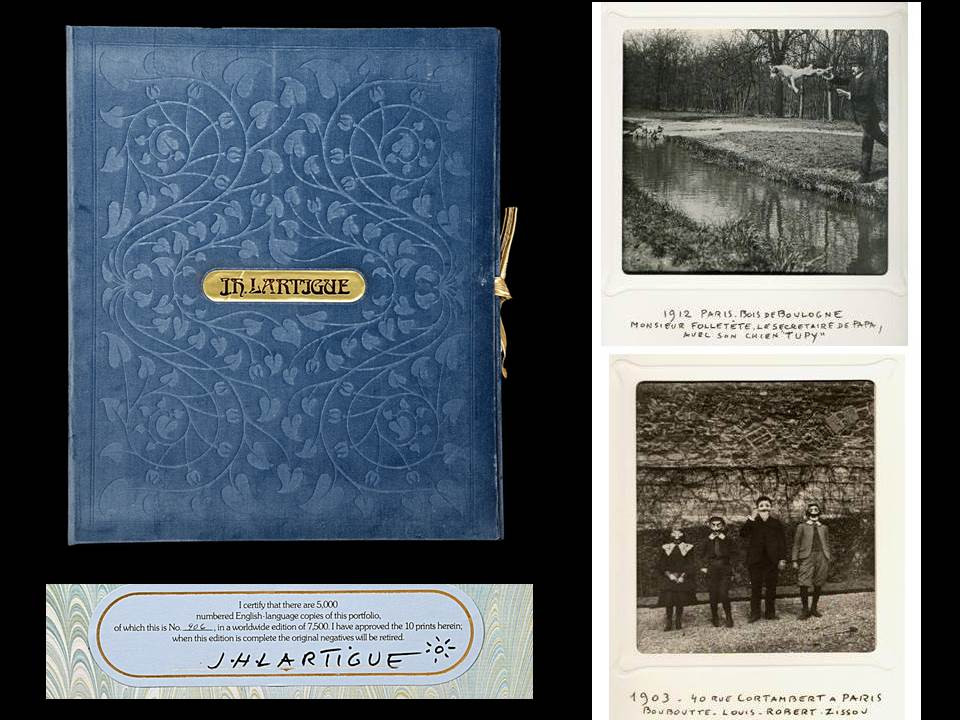 J. H. Lartigue Portfolio of 10 Silver Gelatin Prints, Signed Limited Edition