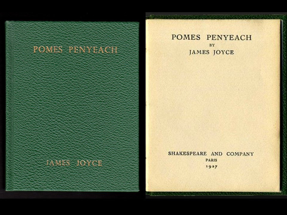 Pomes Penyeach by James Joyce, 1927, First Edition, Custom Leather Binding