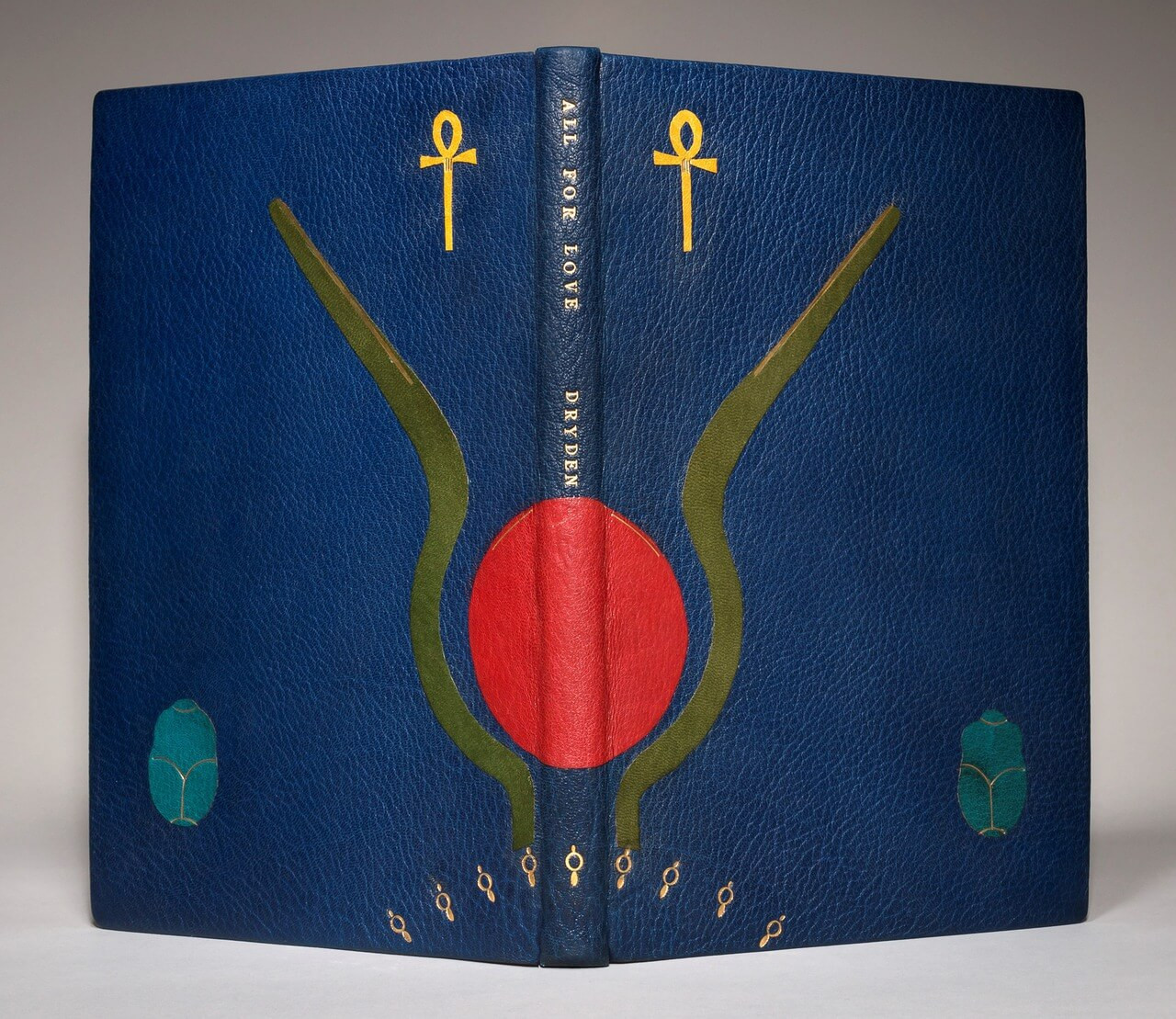 All for Love by John Dryden, Unique Hand-Crafted Binding by Leah Wollenberg