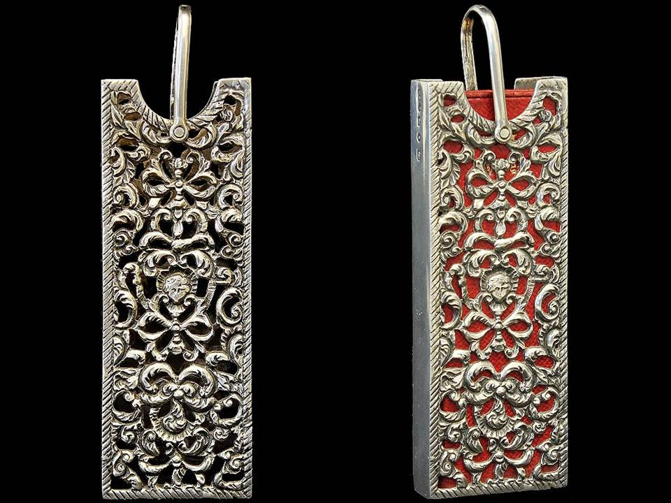 Finger Prayer Book in Silver Case by David & Lionel Spiers, Birmingham, 1890