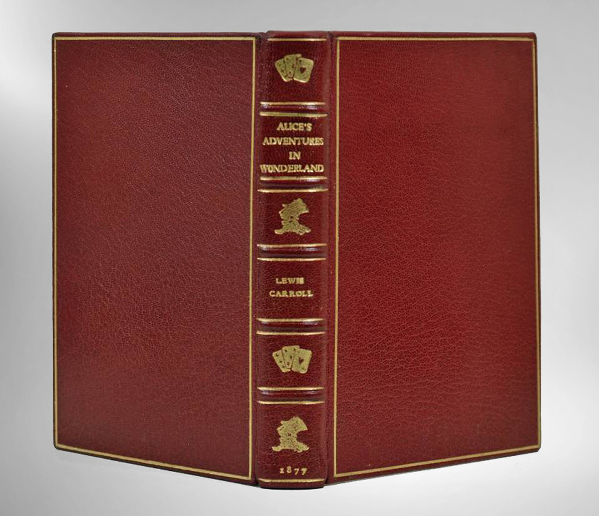 Alice's Adventures in Wonderland, 1877, Custom Full Leather Binding