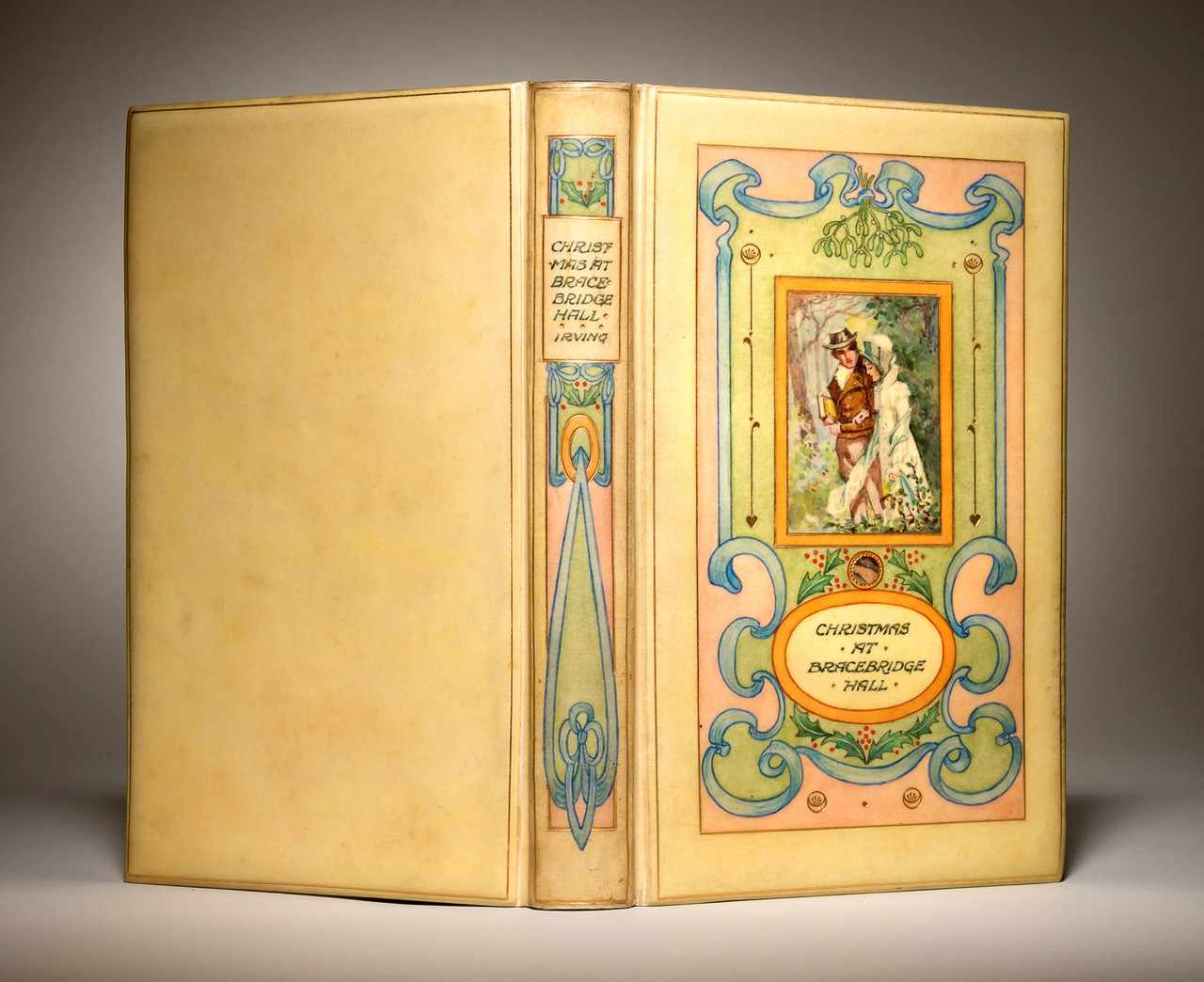 "Christmas at Bracebridge Hall, 1906, ""Vellucent"" Binding by Cedric Chivers"