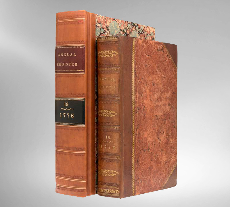 Annual Register for the Year 1776, First Edition, Declaration of Independence