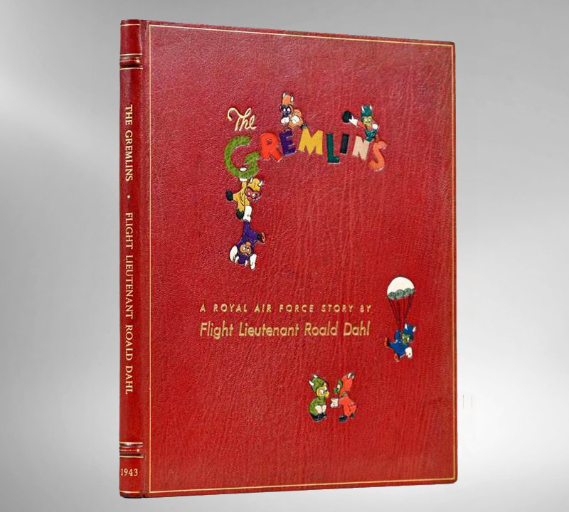 Gremlins by Roald Dahl, 1943, Illustrated by Disney, Custom Chelsea Binding