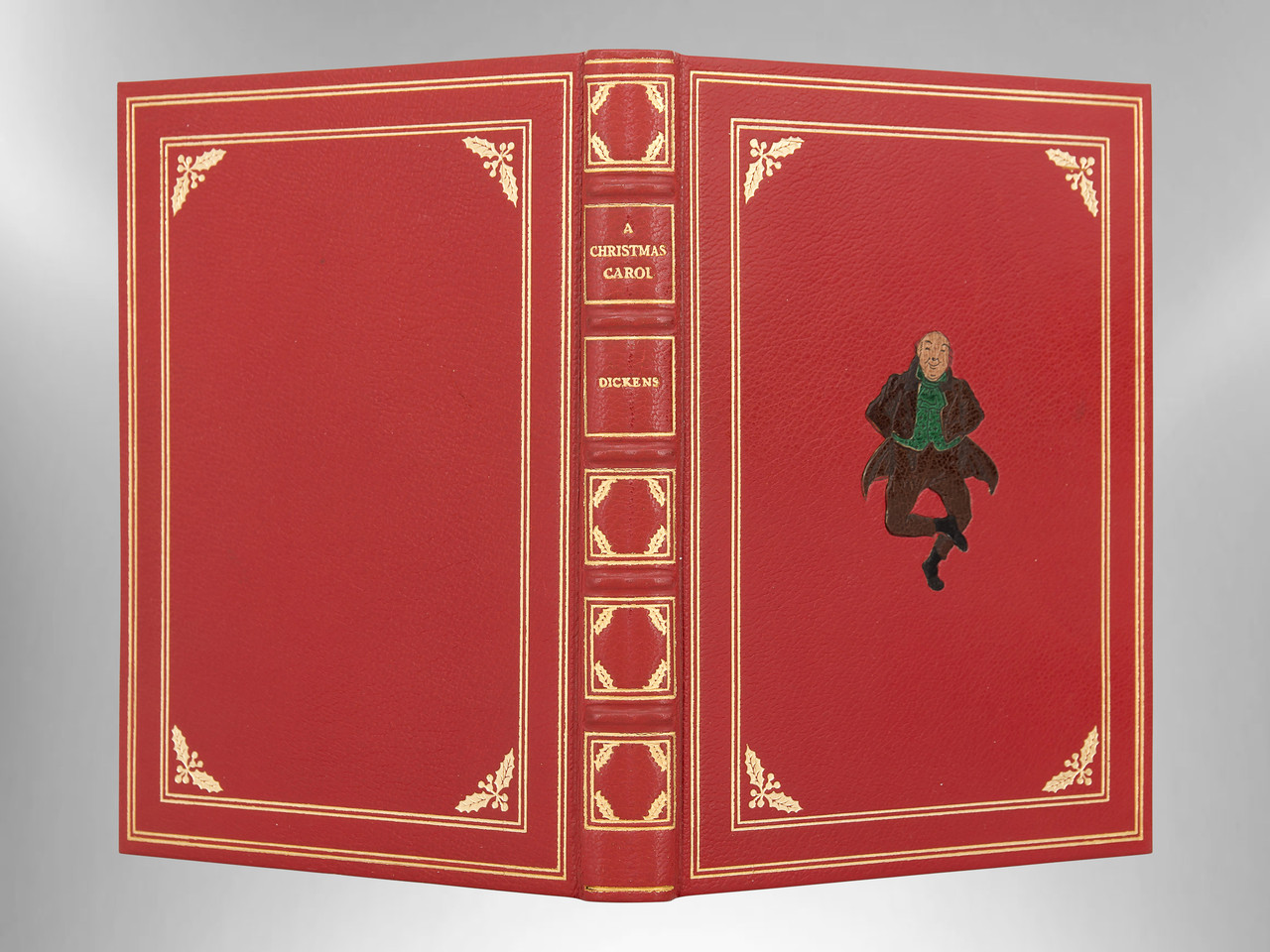 A Christmas Carol by Charles Dickens, Monastery Hill Inlaid Leather Binding