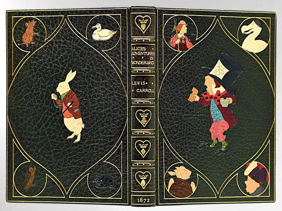 Alice's Adventures in Wonderland by Lewis Carroll, 1872, Kelliegram Binding