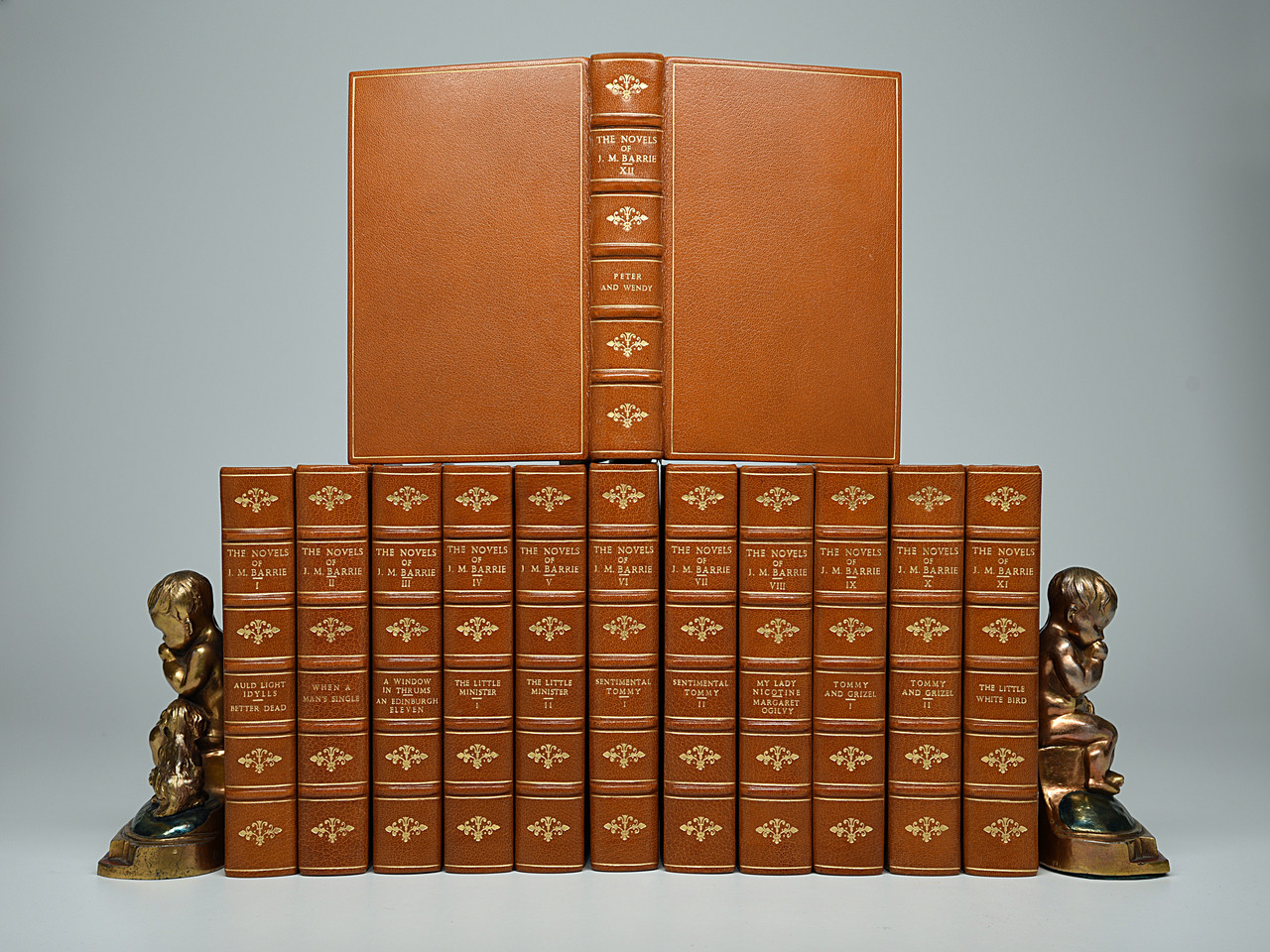 The Novels, Tales & Sketches of J. M. Barrie, 1912, Custom Full Leather Bindings
