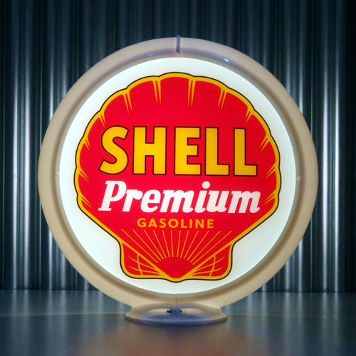 "Shell Premium Gasoline - 13.5"" Gas Pump Globe"
