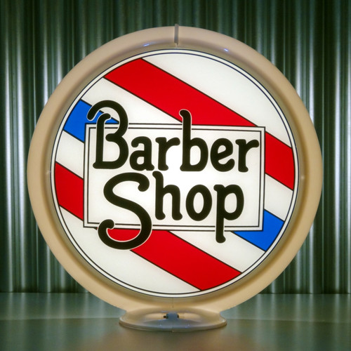 "Barber Shop - 13.5"" Gas Pump Globe"