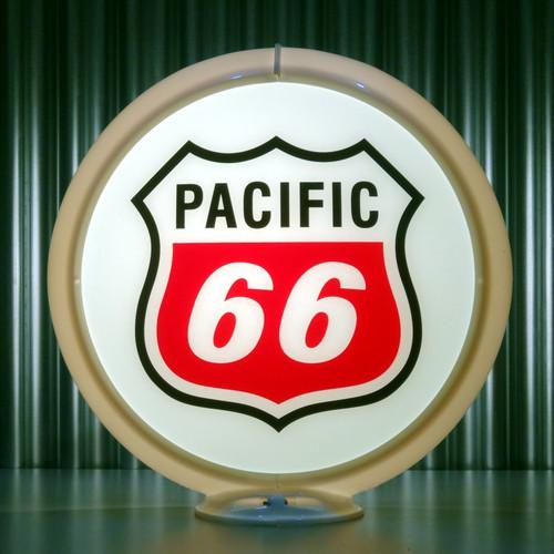 """Pacific 66 Gasoline - 13.5"""" Gas Pump Globe"""