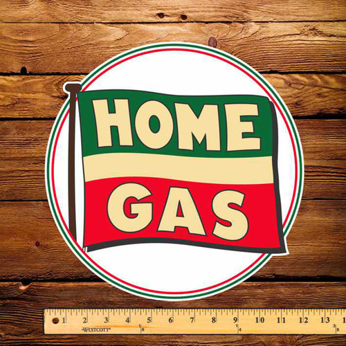 "Home Gas of BC 12"" Pump Decal"