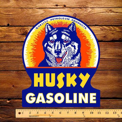 "Husky Gasoline 10"" x 12"" Pump Decal"