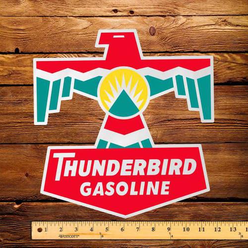 "Thunderbird Gasoline 12"" Pump Decal"