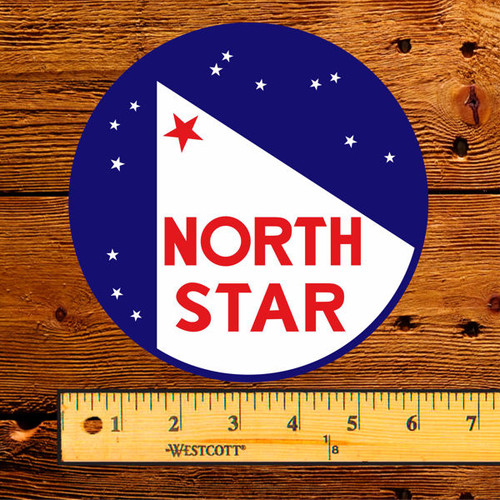 """North Star Gas with Stars 6"""" Lubester Decal"""