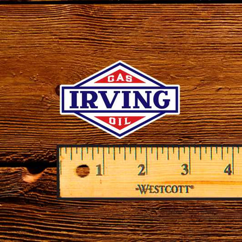 Irving Gas & Oil Bottle Decal