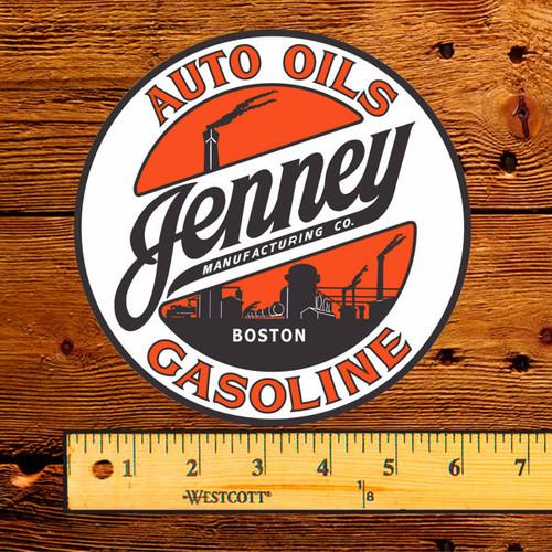 "Jenney Auto Oils Gasoline 6"" Gas Pump Decal"