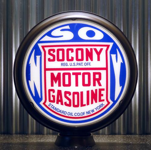 """SOCONY Motor Gasoline Standard Oil of New York 15"""" Lenses"""