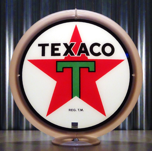 "Texaco T Gasoline - 13.5"" Gas Pump Lenses"