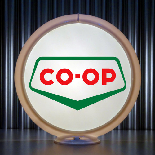 "CO-OP Gasoline - 13.5"" Gas Pump Lenses"