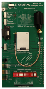 MiniSatCom Developers Board with a sample radio