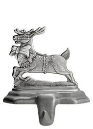 Reindeer with  Bow - Stocking or Basket Holder
