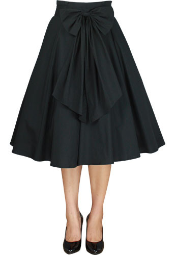 Black Performance 1950's Circle Skirt with Sash