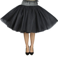 Black Double Full Petticoat