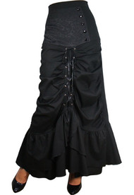 Black Performance Victorian Circle Skirt