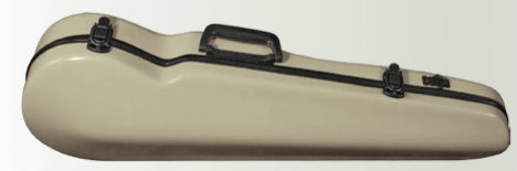 Champagne CC430 Fiberglass Suspension Violin Case Open