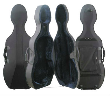 Black Core Cordura Zippered Cello Case