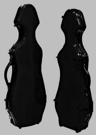 Black Fiberglass Violin Case Cello-Shaped