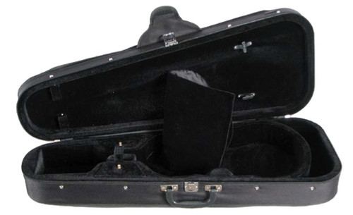 Shaped 399 Viola Case Open