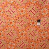 Mark Cesarik PWMC021 Cosmic Burst Gamma Ray Orange Fabric By The Yard