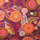 Valori Wells PWVW043 Cocoon Metamorphosis Ruby Wine Cotton Fabric By The Yard