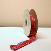 "Kaffe Fassett Roman Glass Red 1 1/8"" Single Fold Cotton Bias Binding 12 Yds"