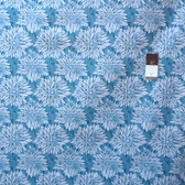 Ty Pennington PWTY012 Impressions Dahlia Teal Cotton Fabric By The Yard