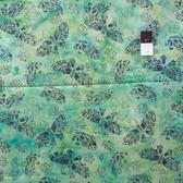 Clothworks Fresh Batiks Botanica 2 FB017-101 Turquoise Cotton Fabric By The Yard