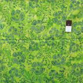 Clothworks Fresh Batiks Botanica 2 FB020-20 Light Green Cotton Fabric By The Yard
