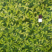 Clothworks Fresh Batiks Botanica 2 FB016-22 Dark Green Cotton Fabric By The Yard